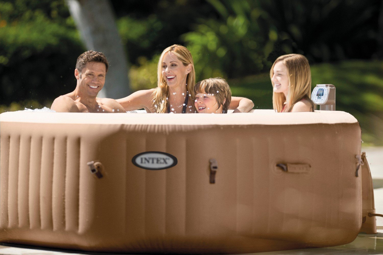 Intex 79In X 79In X 28In PureSpa Portable Bubble Spa Set