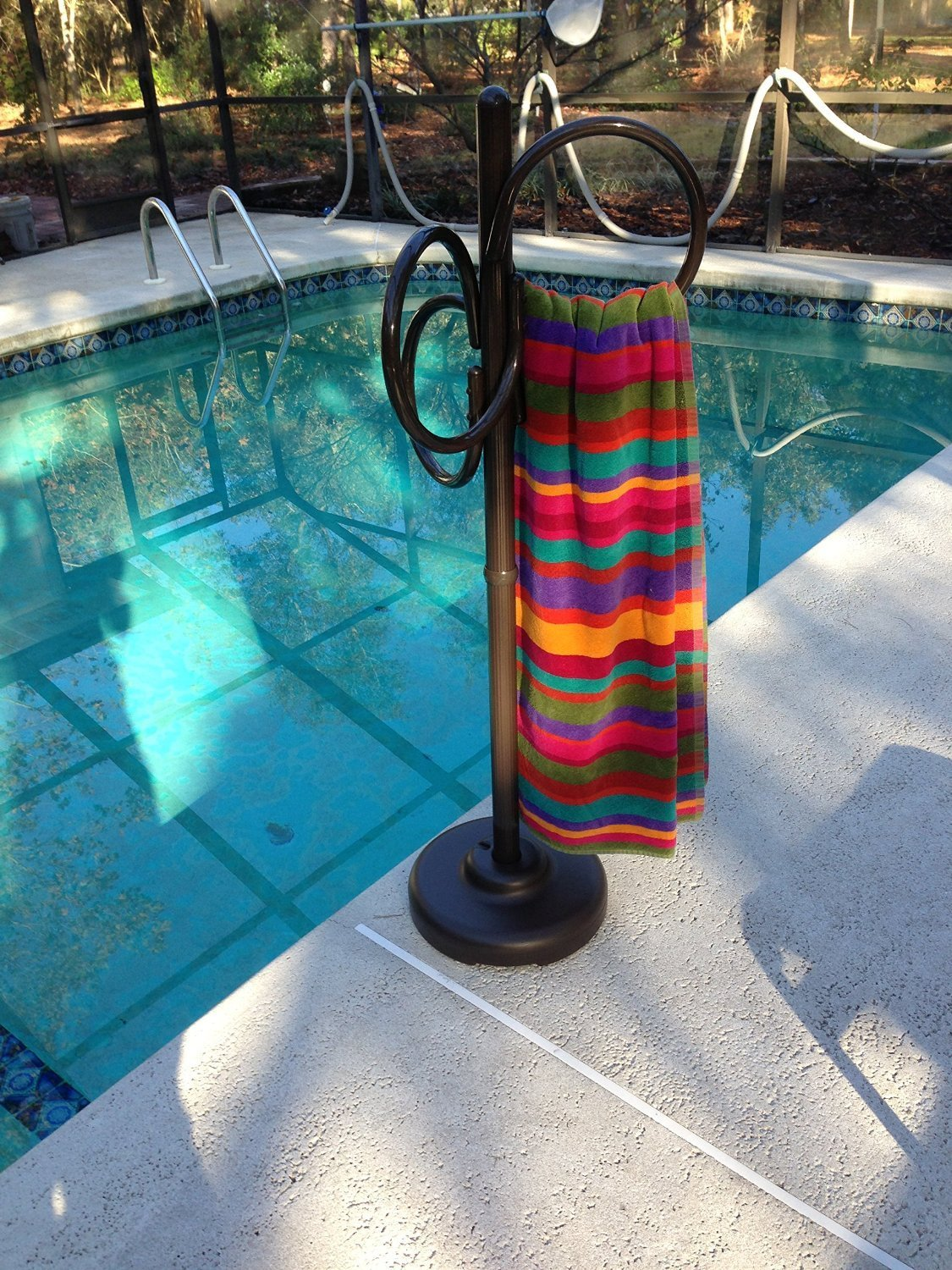 Outdoor Spa And Pool Towel Rack Outdoor Hot Tub Towel Rack