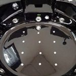 2 Person Black Corner Bathtub with 29 Massage Jets and Built-in Heater