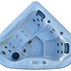 3 Person Corner Spa Hot Tub Signature Brand – 2 HP Pump – 27 SS Jets – 110v – 20 Amp – Titanium Hydro-Therm Smart Heater – Made in the USA – 2 Year Warranty – Model SS-2 – 2 Jetted Seats and 1 Jetted Lounger