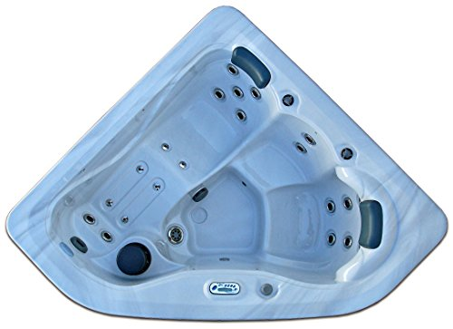 3 Person Corner Hot Tub Signature Brand With 2 HP Pump And 27 Jets