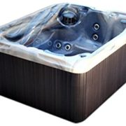 3 Person Spa Hot Tub Signature Brand – 2 HP Pump – 25 SS Jets – 110v – 20 Amp – Titanium Hydro-Therm Smart Heater – Made in the USA – 2 Year Warranty – Model SS-3 – 1 Jetted Seat and 2 Jetted Loungers