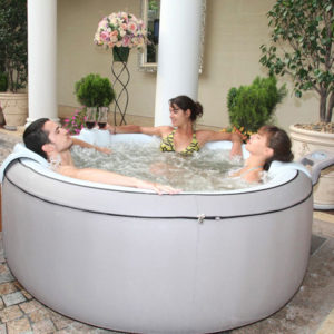 M-SPA B-140B 4-Person Inflatable Bubble Spa, Gray Elegance deal image