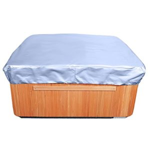 Budge All-Seasons Square Hot Tub Cover, Medium (Blue)