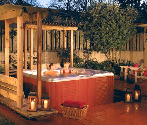 Building and Design of your Hot Tub and Spa, Outdoor Hot ... on ideas for backyard mini golf, ideas for backyard deck, ideas for backyard playground, ideas for backyard basketball,