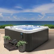 Cal Spas Pacifica Series, 20 Stainless Jets, Seats 6inc Cover and 30″steps
