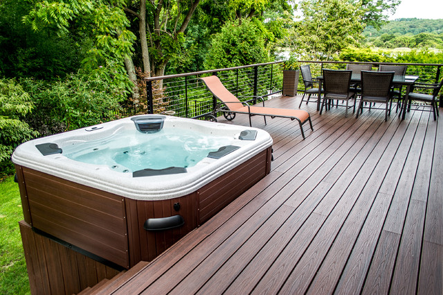 Decks For Energy Efficient Hot Tubs Such As Island Escape