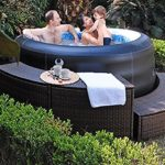 Jilong Avenli 4-Person Spa Prolong Inflatable Hot Tub, Black