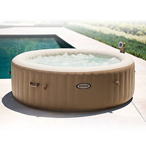 Intex purespa bubble massage 6 person portable hot tub for 85 degrees tanning salon