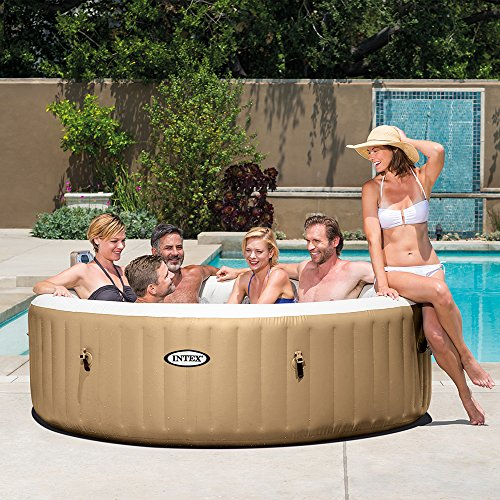 intex purespa bubble massage 6 person portable hot tub. Black Bedroom Furniture Sets. Home Design Ideas