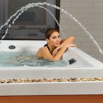 QCA Spas Model 1P Scorpius 4-Person Rectangular Spa with 10 Stainless Steel Jets