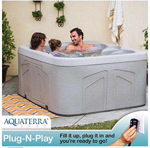 Outdoor 4 Person Hot Tub Perfect for Any Patio or Outdoor Living Area.