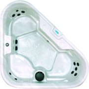 QCA Spas Model 10 Aquarius Hot Tub, 88 by 72 by 72 by 30-Inch, Silver Marble