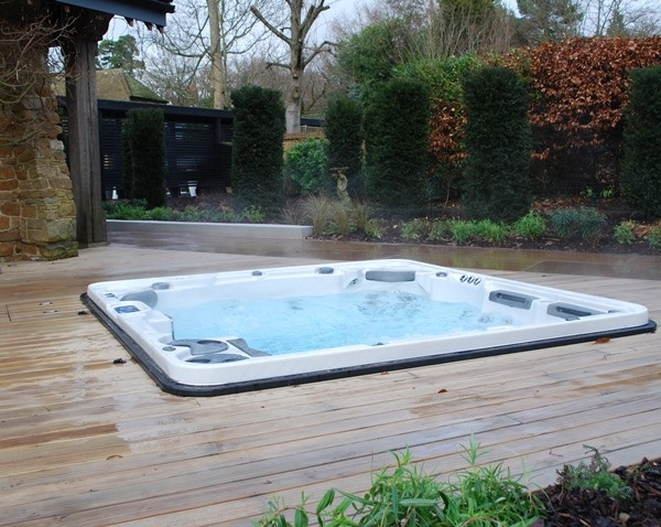 Installing Hot Tub In Backyard : Hot Tub Installation  Easy to learn how to install hot tub and spa
