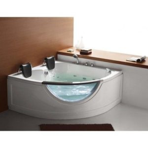 Homeward Bath's Chelsea 2 Person Corner Water Massage Tub