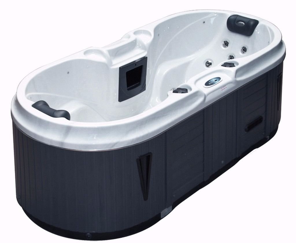 the bliss spa two person indoor and outdoor portable hot tub. Black Bedroom Furniture Sets. Home Design Ideas