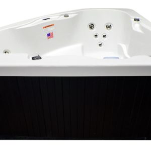 Home and Garden Spas LPI14XC 3 Person 14 Jet Corner Spa- Plug-and-Play with GFCI Cord Included, Ivory White