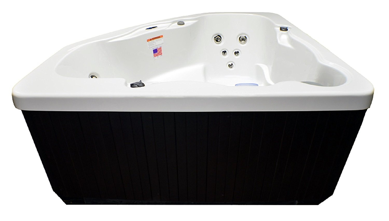 Attirant Home And Garden Spas LPI14XC 3 Person 14 Jet Corner Spa  Plug And Play With  GFCI Cord Included, Ivory White