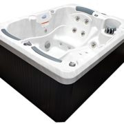 Home and Garden Spas LPI31TRI 3 Person 31 Jet Spa with Stainless Jets & Waterfall, Sterling White