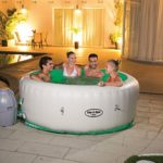 SaluSpa Paris AirJet Inflatable Hot Tub w/ LED Light Show