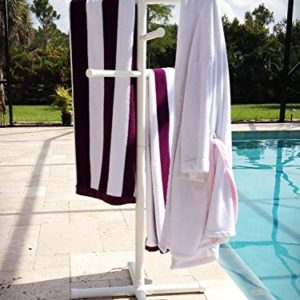 Pool & Spa Towel Rack Premium Extra Tall Towel Tree Outdoor PVC White
