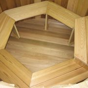 4 Person Wood Hot Tub – Electric Heater with jets