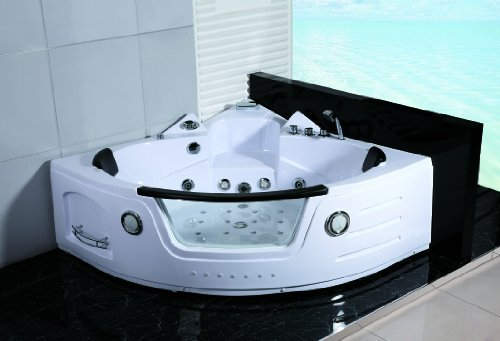 2 Two Person Whirlpool Massage Hydrotherapy White Corner