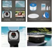 4 Person Octagonal 210 Gallon Spa with 120 Bubble Jets