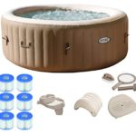 Best 4-Person Inflatable Portable Hot Tub Ultimate Bundle Package