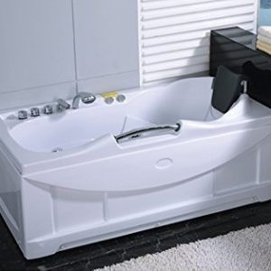 One 1 Person Whirlpool Massage Hydrotherapy White Bathtub Tub with FREE Remote Control, Water Heater, and Shower Wand deal image