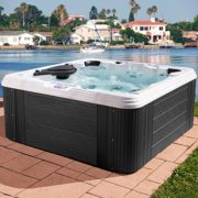 Essential Hot Tubs SS224617403 Civility Outdoor Hot Tub, Grey