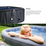 M-SPA MSPA Tekapo Relaxation and Hydrotherapy 6 Person Square Portable Inflatable Hot Tub Bubble D-TE06 (Latest 2018 Model)